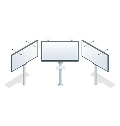 billboard isometric different perspectives vector image vector image
