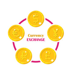 coins world currency exchange vector image vector image