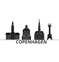 copenhagen architecture city skyline vector image vector image