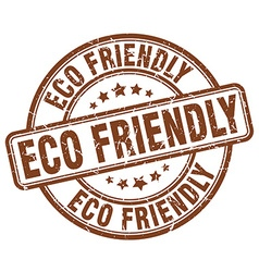 Eco friendly brown grunge round vintage rubber vector