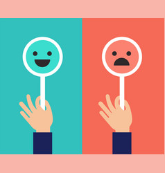 emoticons scale satisfaction concept vector image vector image