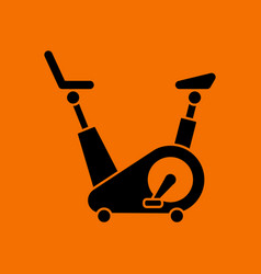 Exercise bicycle icon vector