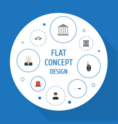 Flat icons bayonet thief lawyer and other vector