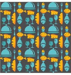 Kitchen pattern vector image