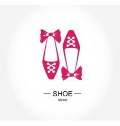 Logo shoe store shop fashion collection boutique vector image vector image