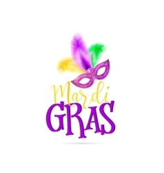 Mardi gras text sign with vector