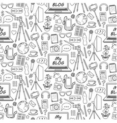 My blog seamless pattern vector