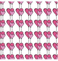 Nice heart balloon decoration background design vector