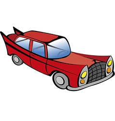 Old Car RED vector image