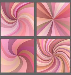 Pink spiral and starburst background design set vector