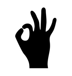 sign perfectly shows the hand icon vector image
