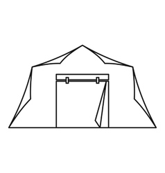 Tent icon outline style vector image