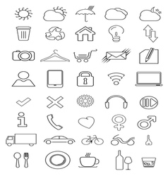 thin icons2 vector image vector image