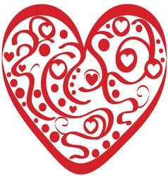 Valentine Swirl Heart vector image vector image