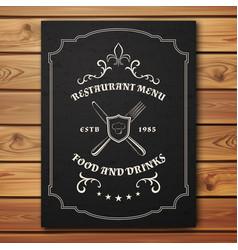 Vintage restaurant or cafe menu template vector