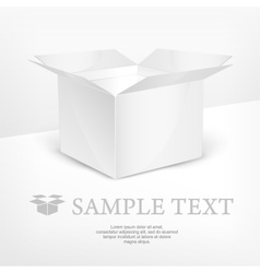 White box realistic vector image