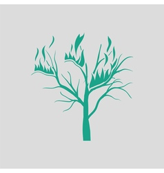 Wildfire icon vector image vector image