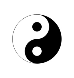 Yin yang icon religion symbol vector
