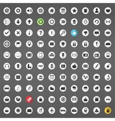 100 Icons vector image vector image