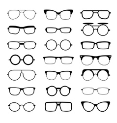 Sunglasses eyeglasses geek glasses different vector image