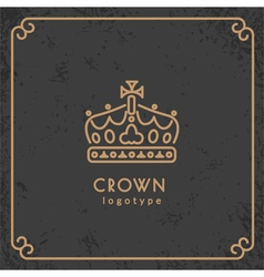 Crown logotype vector