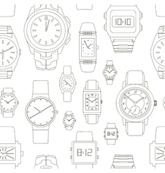 Pattern of watches vector
