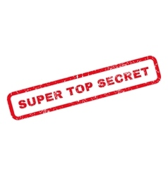 Super Top Secret Rubber Stamp vector image