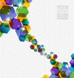 Abstract hexagon design vector image