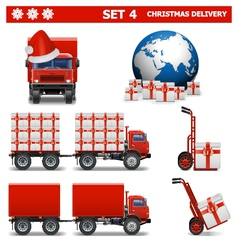 Christmas Delivery Set 4 vector image
