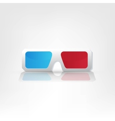 3d glasses icons vector
