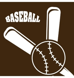 Baseball design vector
