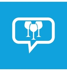 Wine glass message icon vector