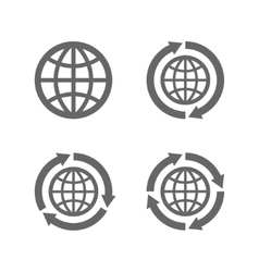 Globe earth icons as a symbol of travelling vector