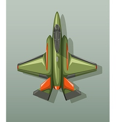 Green military fighting jet vector