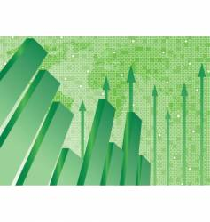Graph and background vector