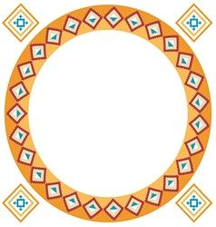 Ethnic classic border rounder designs vector