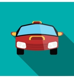 Red racing car icon in flat style vector image