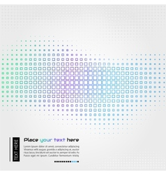 Abstract technology background with square shapes vector image