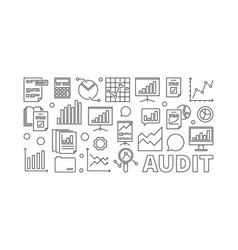 Audit concept business vector