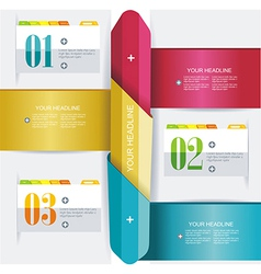 Business Design Template with color ribbon banners vector image