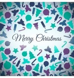 Christmas symbols card vector
