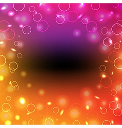 Colorful poster with bokeh vector
