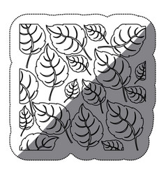 coontour leaves background icon vector image vector image