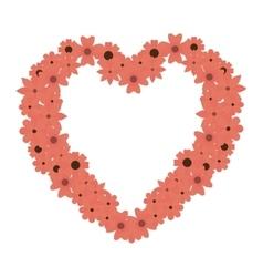 Heart love flowers border vector