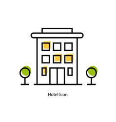 line icon - hotel icon vector image vector image