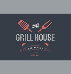 Logo of grill house restaurant vector