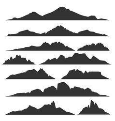 Mountain silhouettes set vector