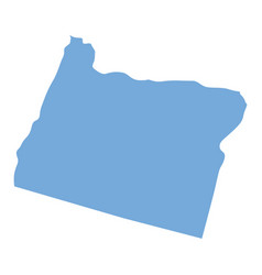 Oregon state map vector