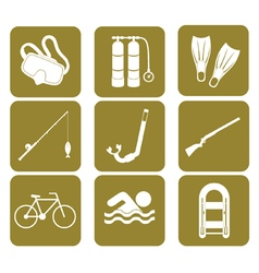 Set of sport and recreation icons vector image