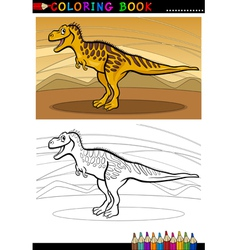 tarbosaurus dinosaur for coloring book vector image vector image